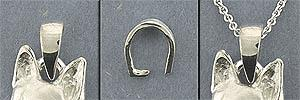 Sterling Silver medium bail - SBAIL102