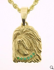 Bearded Collie Pendant - BCOL134