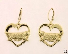 Bearded Collie Earrings - BCOL146