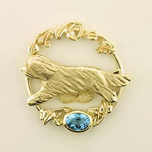 Bearded Collie Brooch - BCOL174