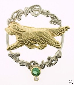 Bearded Collie Brooch - BCOL175