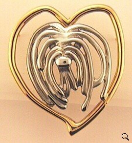 Bearded Collie Brooch - BCOL206