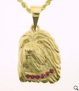 Bearded Collie Pendant - BCOL240