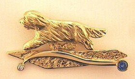 Bearded Collie Brooch - BCOL257