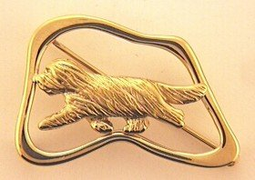 Bearded Collie Brooch - BCOL258