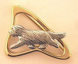 Bearded Collie Brooch - BCOL259