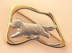 Bearded Collie Brooch - BCOL269