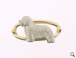 Bearded Collie Brooch - BCOL318
