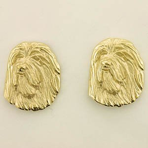 Bearded Collie Earrings - BCOL347