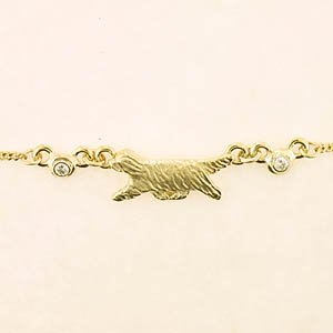 Bearded Collie Anklet - BCOL352