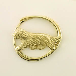 Bearded Collie Brooch - BCOL366