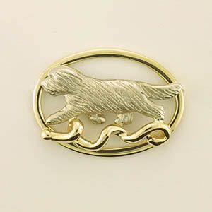 Bearded Collie Brooch - BCOL394