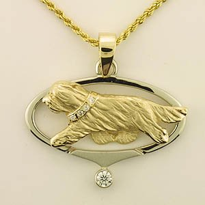Bearded Collie Pendant - BCOL409
