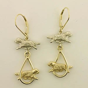 Bearded Collie Earrings - BCOL423