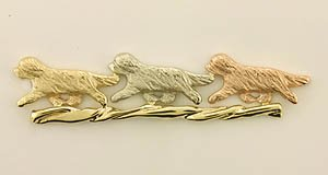 Bearded Collie Brooch - BCOL425