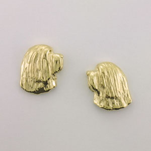 Bearded Collie Earrings - BCOL517