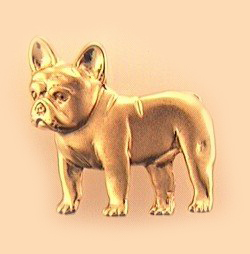 French Bulldog Brooch - FREN143