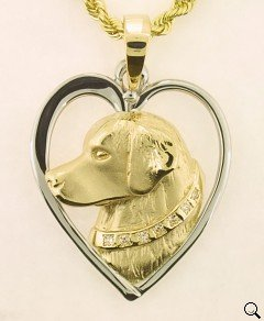 Golden Retriever Pendant - GOLD142