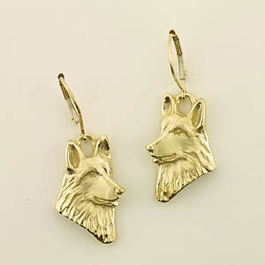 German Shepherd Dog Earrings - GSD198
