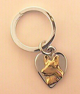German Shepherd Dog Keychain - GSD220