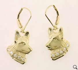 German Shepherd Dog Earrings - GSD271