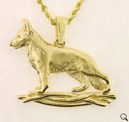 German Shepherd Dog Pendant - GSD281