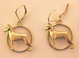 Miniature Pinscher Earrings - MPIN104 - Click Image to Close