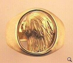 Old English Sheepdog Ring - OES110