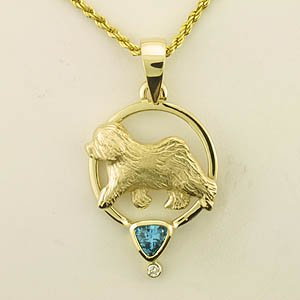 Old English Sheepdog Pendant - OES210