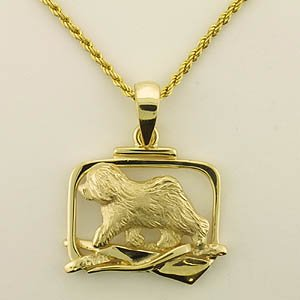 Old English Sheepdog Pendant - OES213