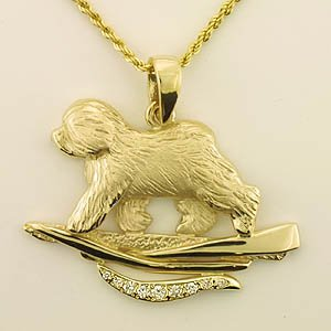 Old English Sheepdog Pendant - OES229