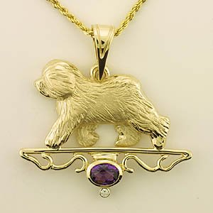 Old English Sheepdog Pendant - OES230