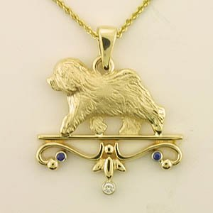 Old English Sheepdog Pendant - OES231