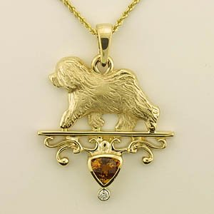 Old English Sheepdog Pendant - OES232