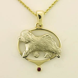 Old English Sheepdog Pendant - OES233