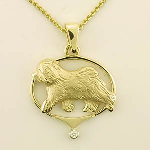 Old English Sheepdog Pendant - OES234