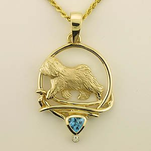 Old English Sheepdog Pendant - OES235