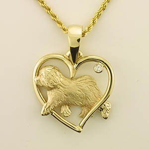Old English Sheepdog Pendant - OES236