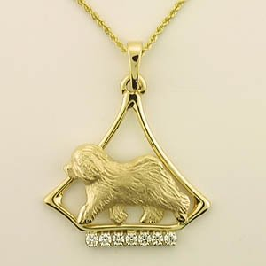 Old English Sheepdog Pendant - OES238