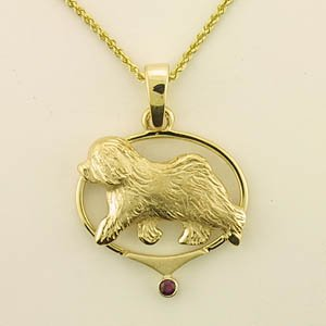 Old English Sheepdog Pendant - OES245