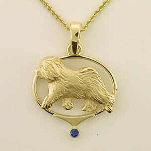 Old English Sheepdog Pendant - OES246