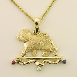 Old English Sheepdog Pendant - OES248
