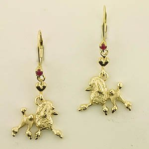 Poodle Earrings - POOS182
