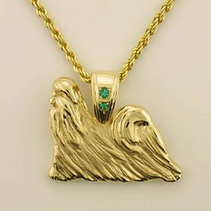 14k Gold Shih Tzu Pendants 14k 9 Inc Designers Of Quality Gold