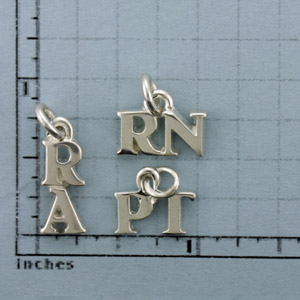 Medium Silver 2 Letter Title Pendant - STI607