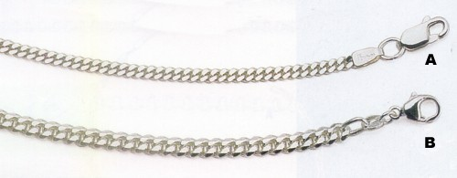 Sterling Silver Chains - Curb Chains