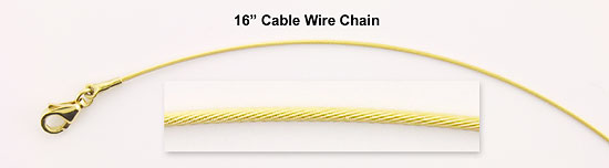 Gold Chains - Cable Wire