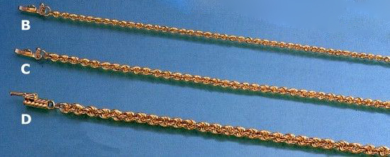 Gold Chains - Solid Rope