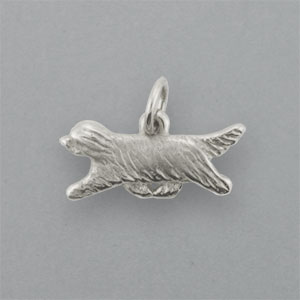 Bearded Collie Pendant - SBCOL115