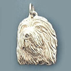 Bearded Collie Pendant - SBCOL130